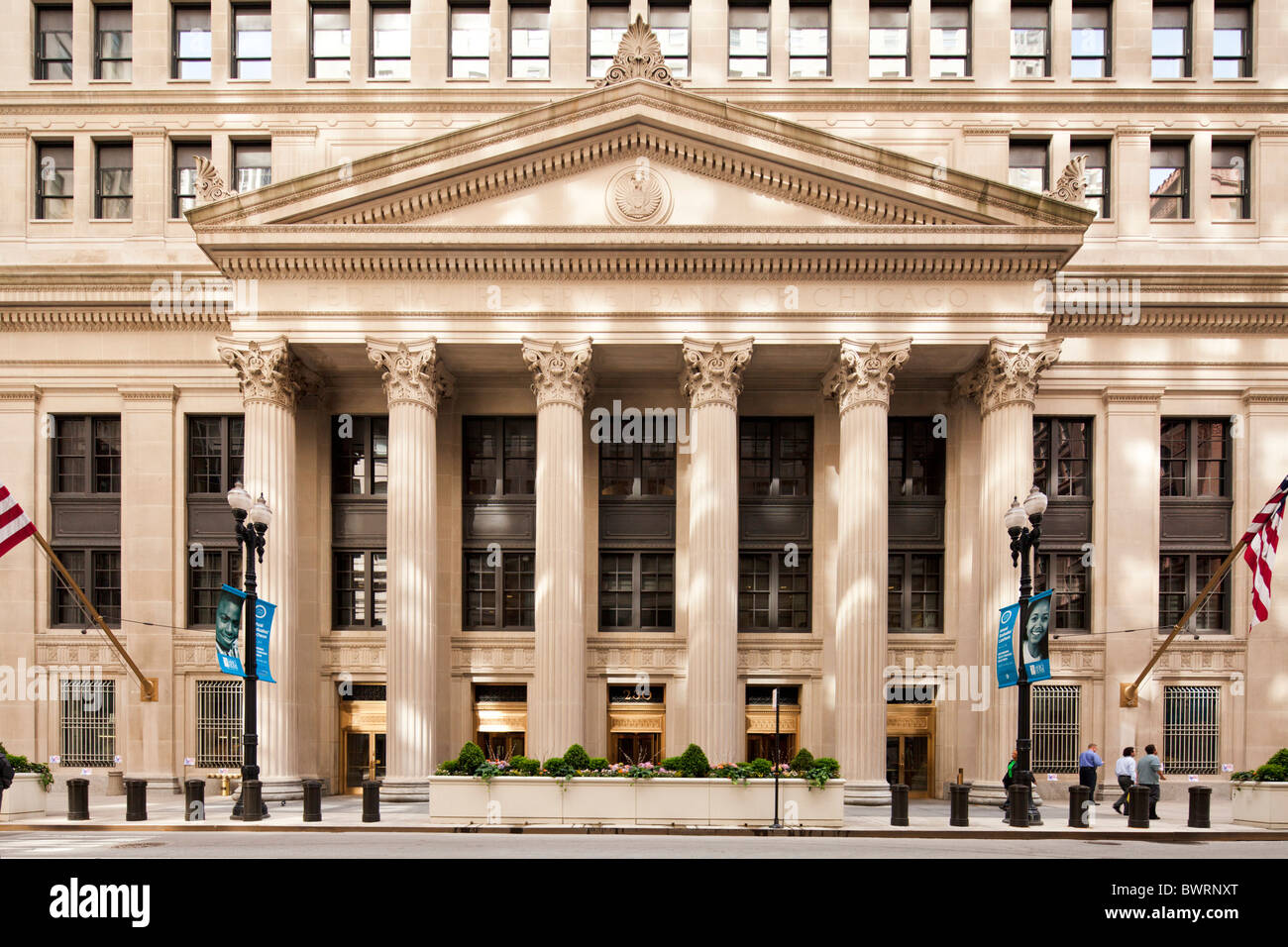 Federal Reserve Bank Fed Chicago, Illinois - Stock Image