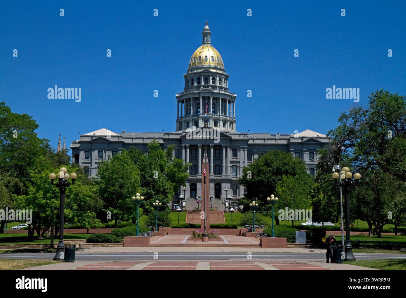 The Colorado State Capitol Building located in Denver, Colorado, USA. - Stock Image