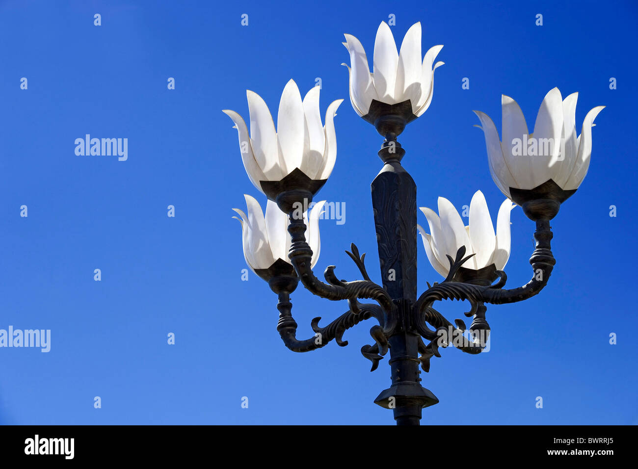 Streetlight in a tourist resort, Sharm el Sheikh, Egypt, Africa - Stock Image