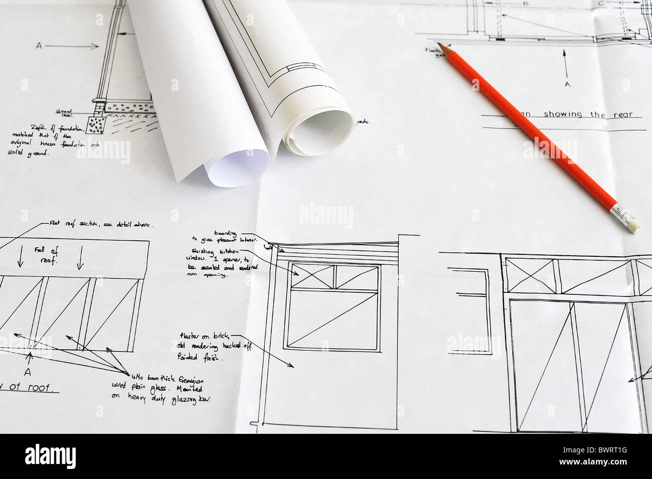 Blueprint Plans Of Home Building And Construction With Other Items