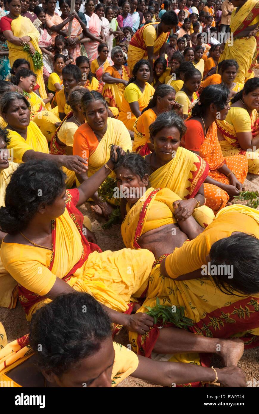Patukalam festival at Sevelimedu in Kanchipuram, Tamil Nadu, South India, India. - Stock Image