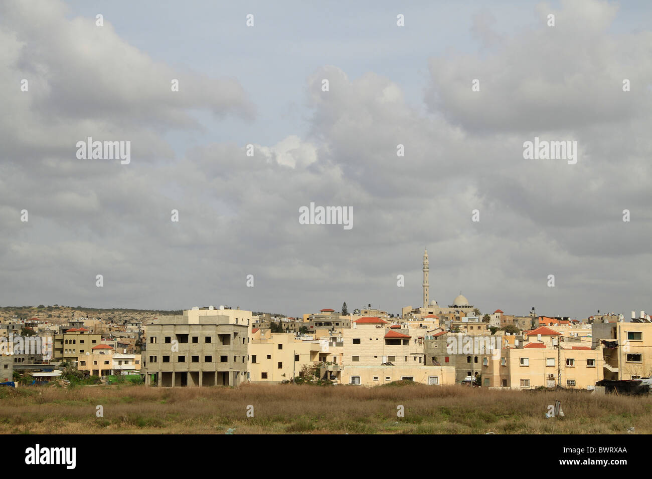 Israel, Carmel coast, Arab town Jisr az-Zarqa - Stock Image
