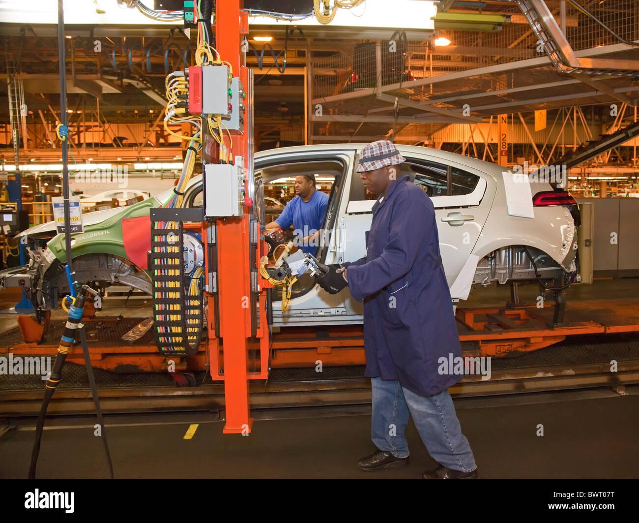 Chevrolet Volt on General Motors Assembly Line - Stock Image