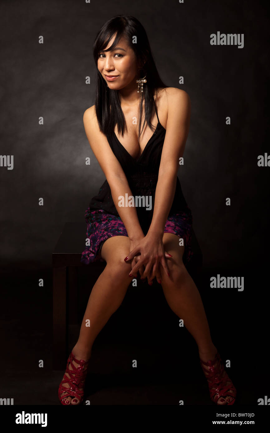 Attractive thirties asian woman - Stock Image