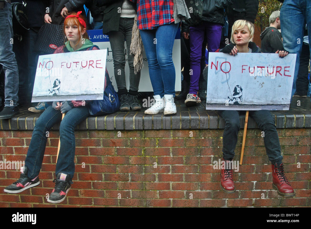 Students protest against rising tuition fees, Bristol University - Stock Image