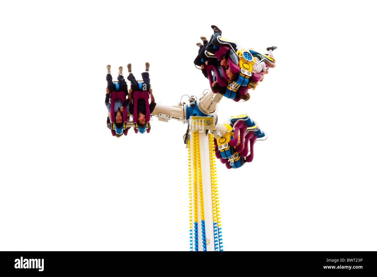 Amusement ride that turns people upside down - Stock Image