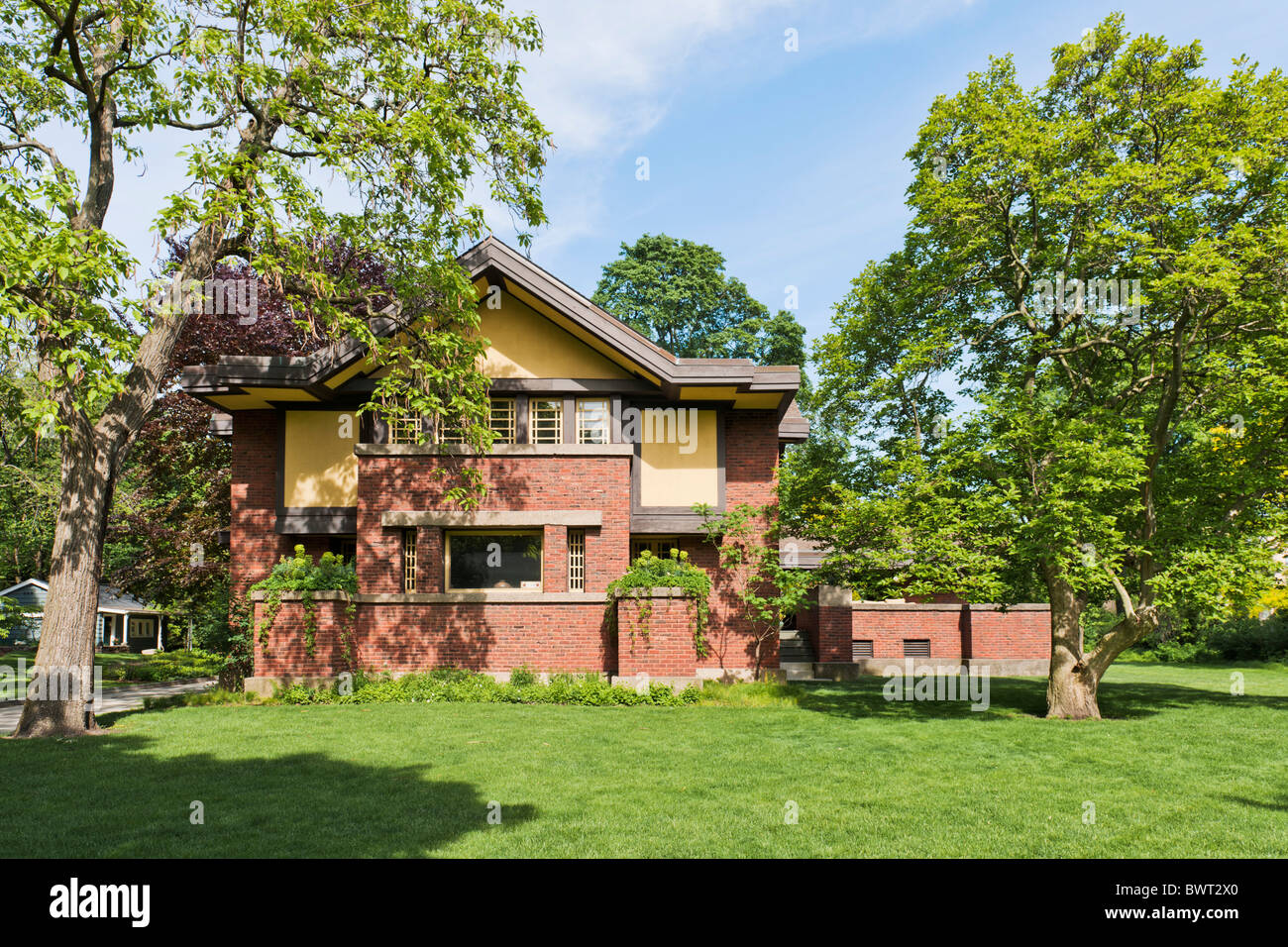 Peter A. Beachy House, Oak Park, Chicago, Illinois - Stock Image