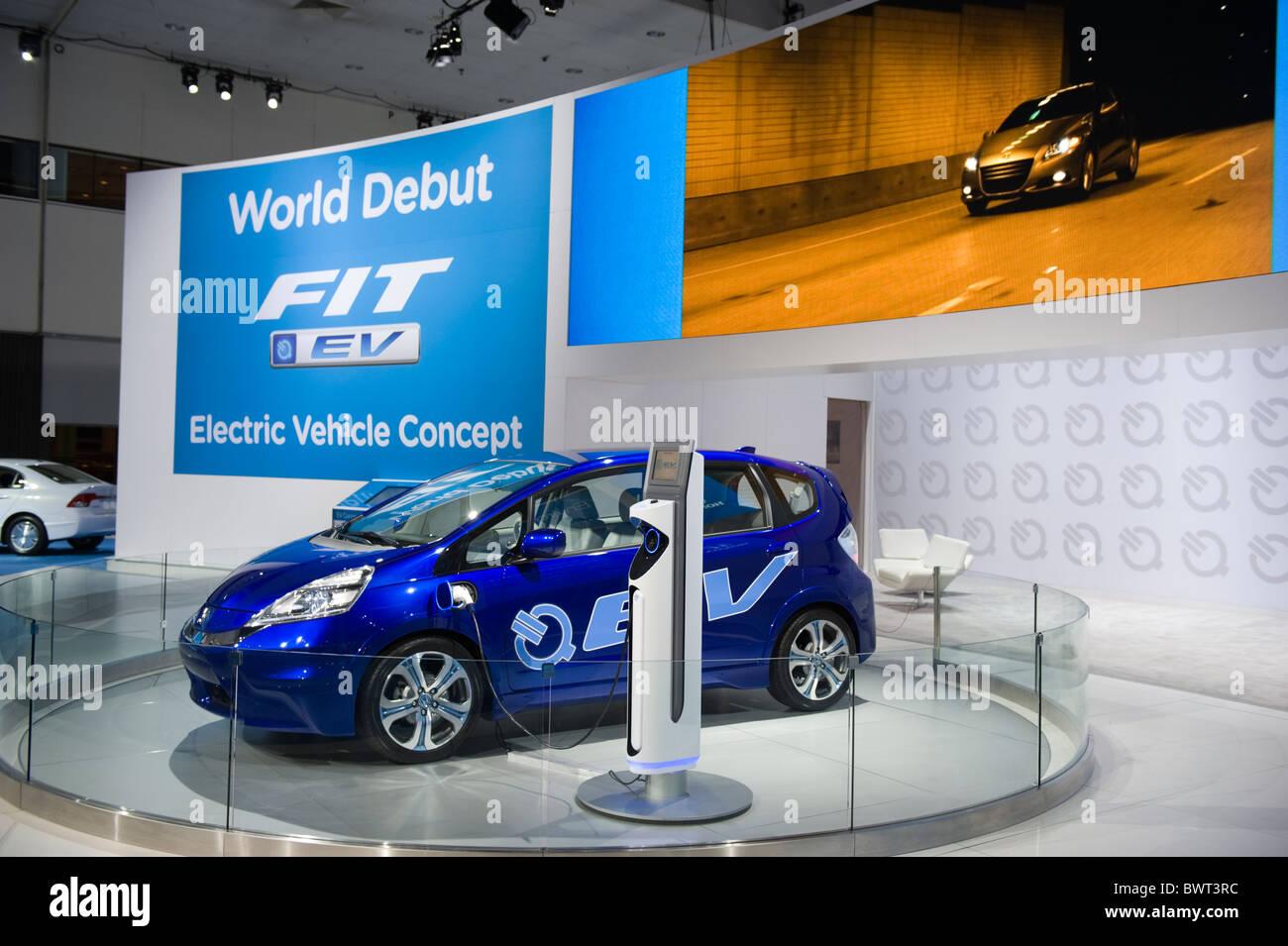 Honda Fit EV Electric Vehicle World Debut At The 2010 LA Auto Show Los Angeles