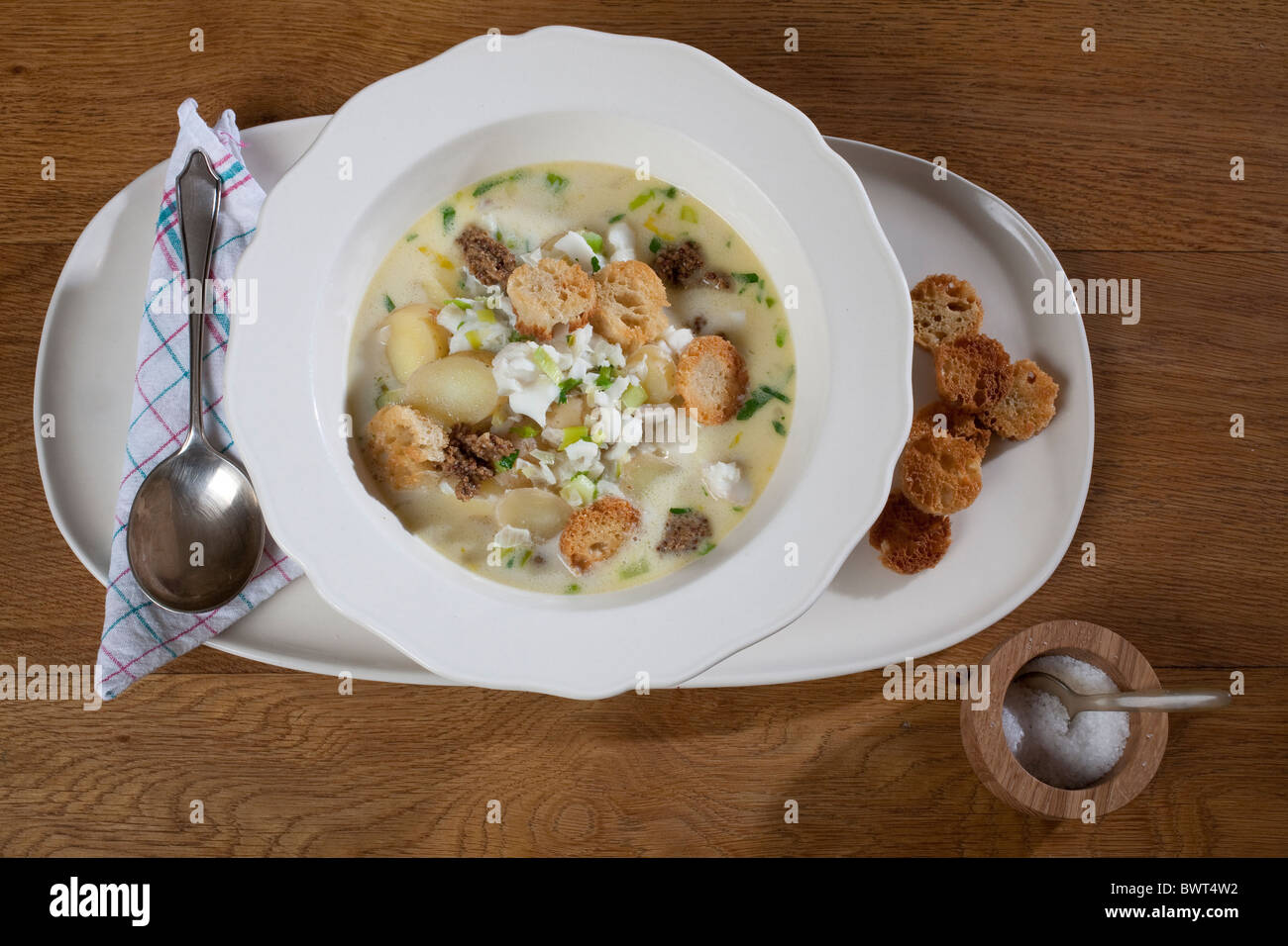 Atlantic fish chowder. Photo:Jeff Gilbert - Stock Image