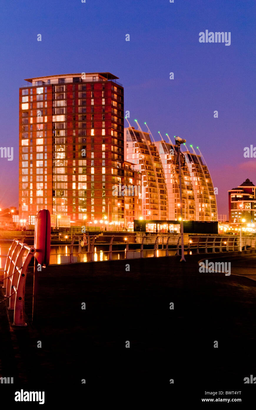 NV buildings at Salford Quays, Manchester, UK - Stock Image