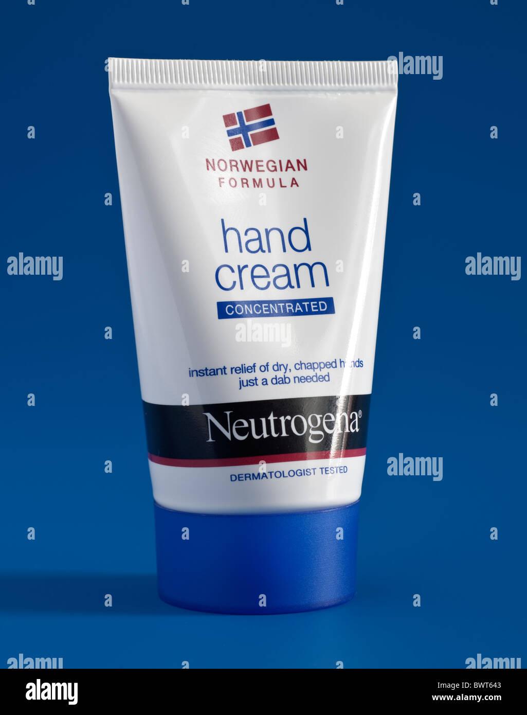Tube of Neutrogena hand cream - Stock Image