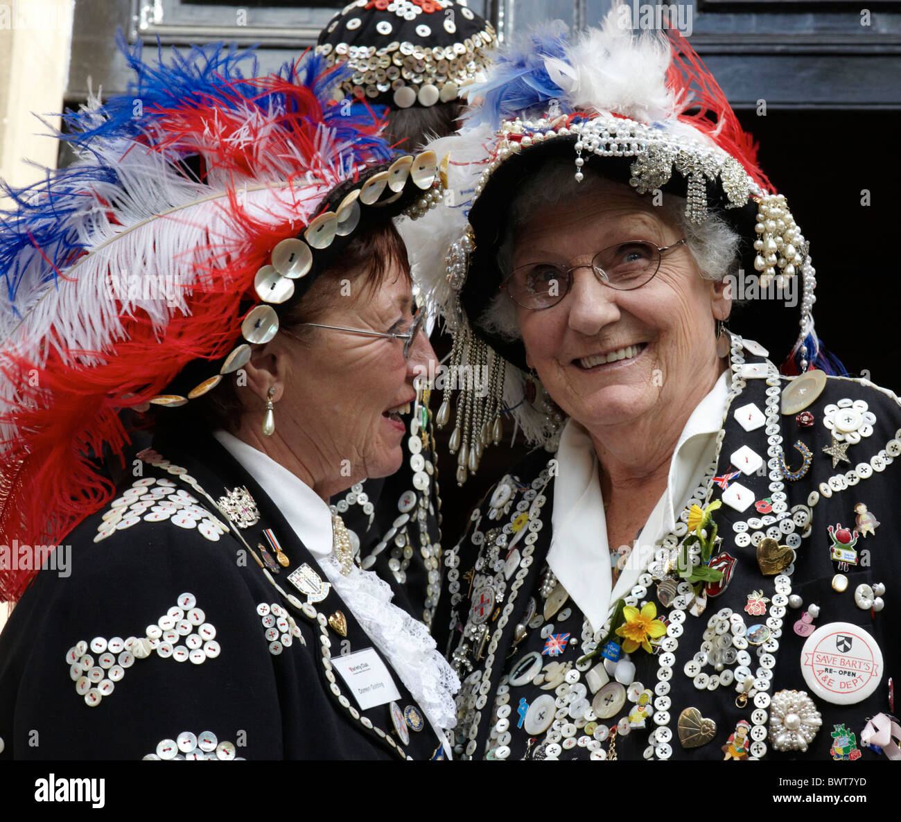 Traditional Pearly Queens London UK Europe - Stock Image