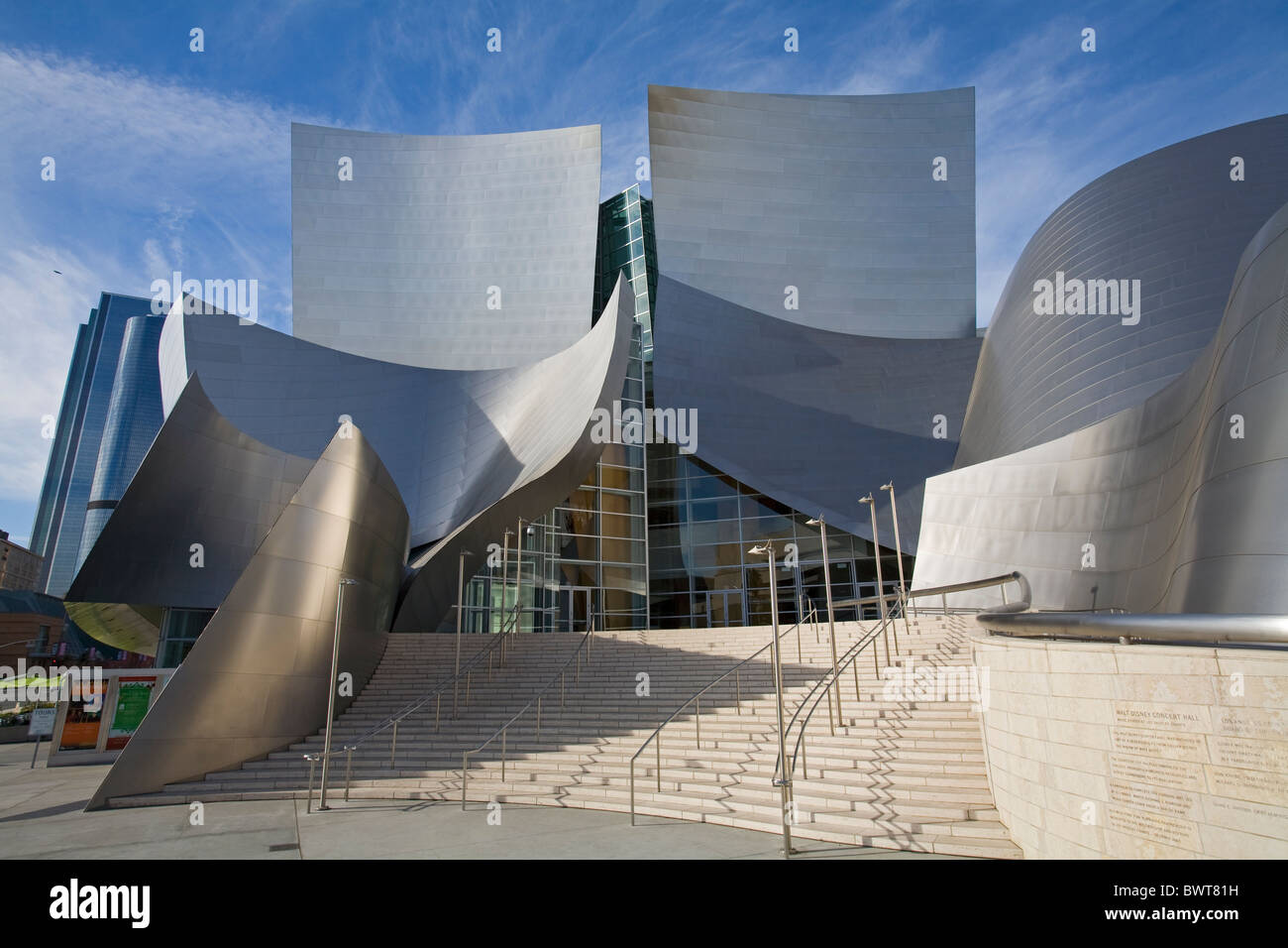 Walt Disney Concert Hall by Frank Gehry, Los Angeles Music Center, Grand Avenue, Downtown Los Angeles, California, - Stock Image