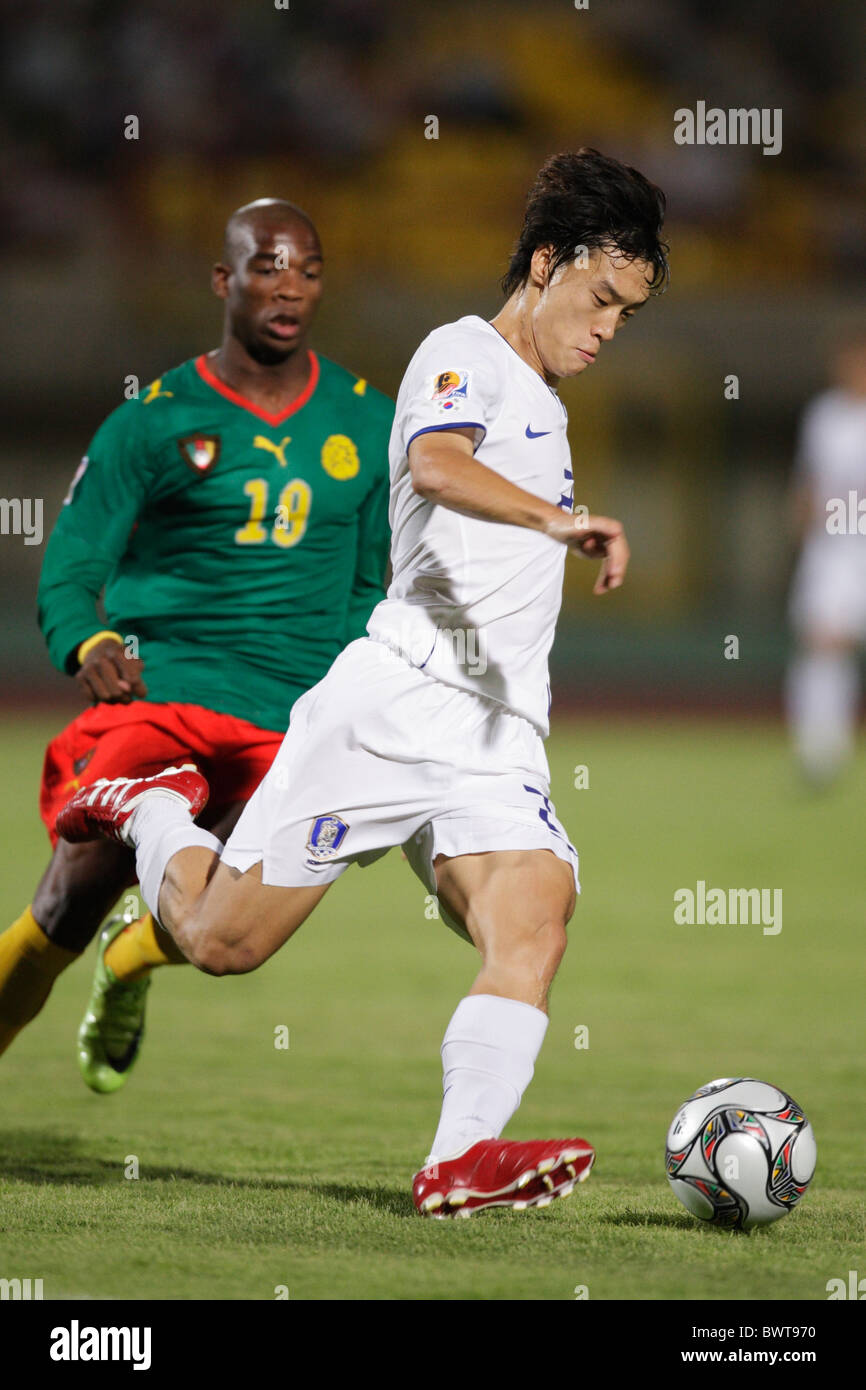Jae Suk Oh of South Korea in action during a FIFA U-20 World Cup Group C match against Cameroon September 26, 2009 Stock Photo