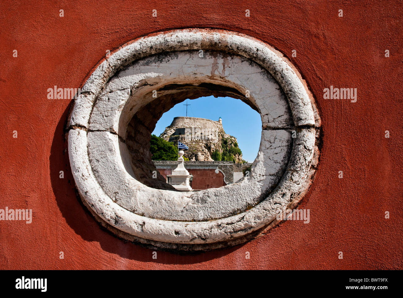 The Old Fortress in Corfu Town, Ionian Islands, Greece. - Stock Image
