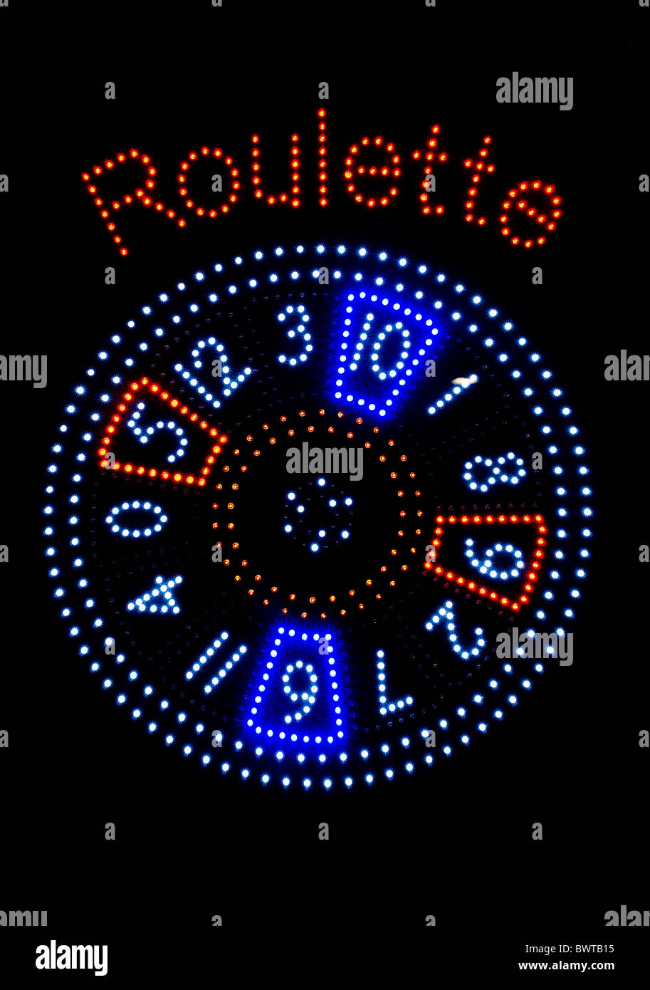 Roulette lights - Stock Image