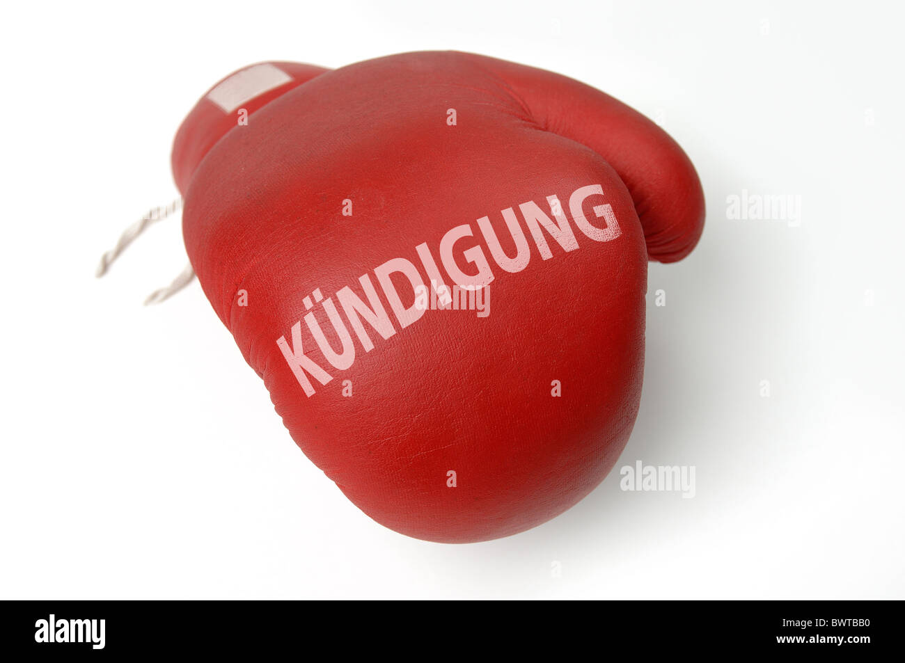 Red boxing glove - Stock Image