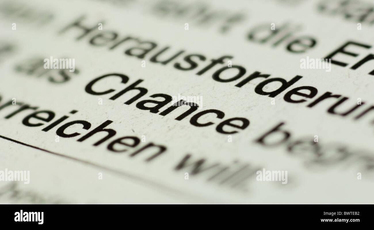 Chance - Stock Image
