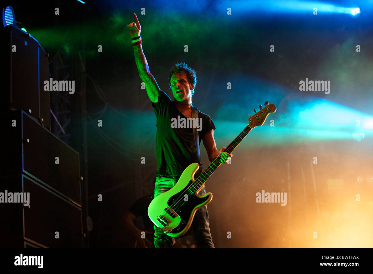 The Prodigy perform on the final day of Bestival 2010 in Newport, Isle of Wight, England on September 12, 2010. - Stock Image