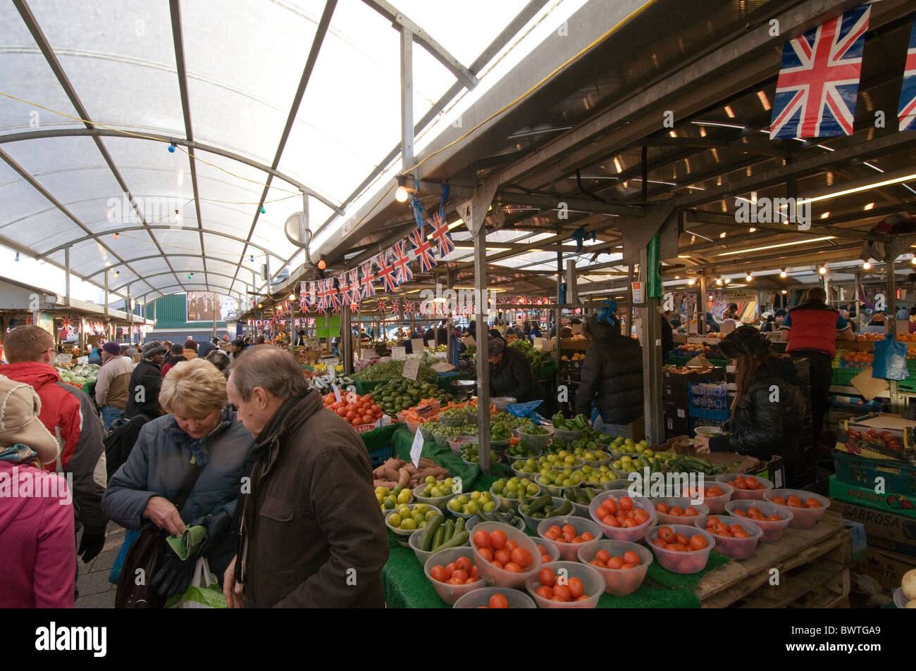 Outdoor Market Stall Stalls Fresh Fruit And Veg Vegetable Vegetables
