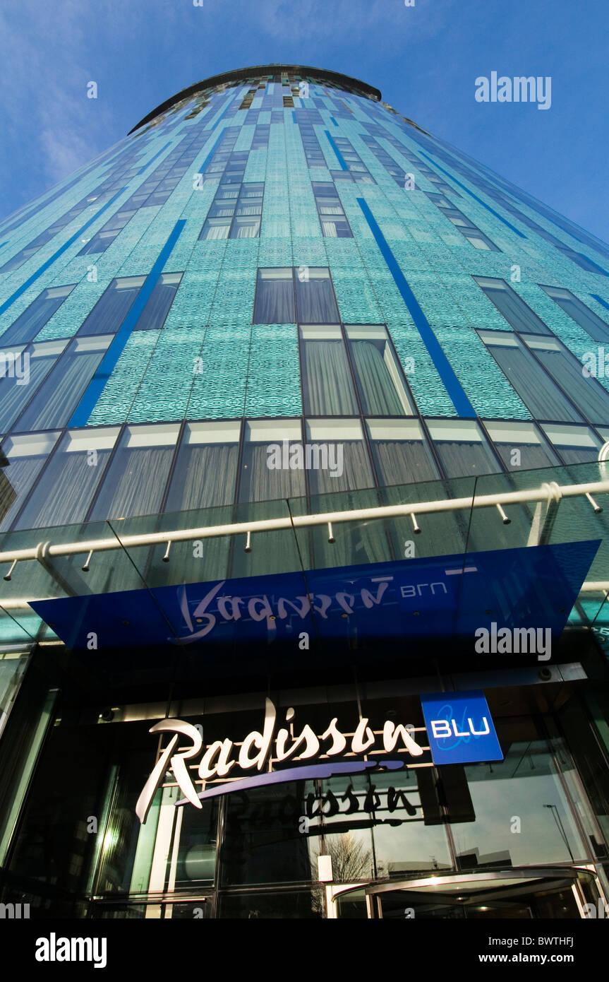 sas radisson hotel hotels chain birmingham uk blu - Stock Image