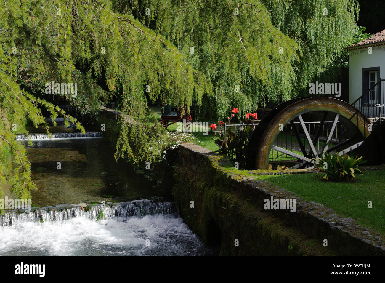 Water-mill in Furnas, Isle of Sao Miguel - Stock Image
