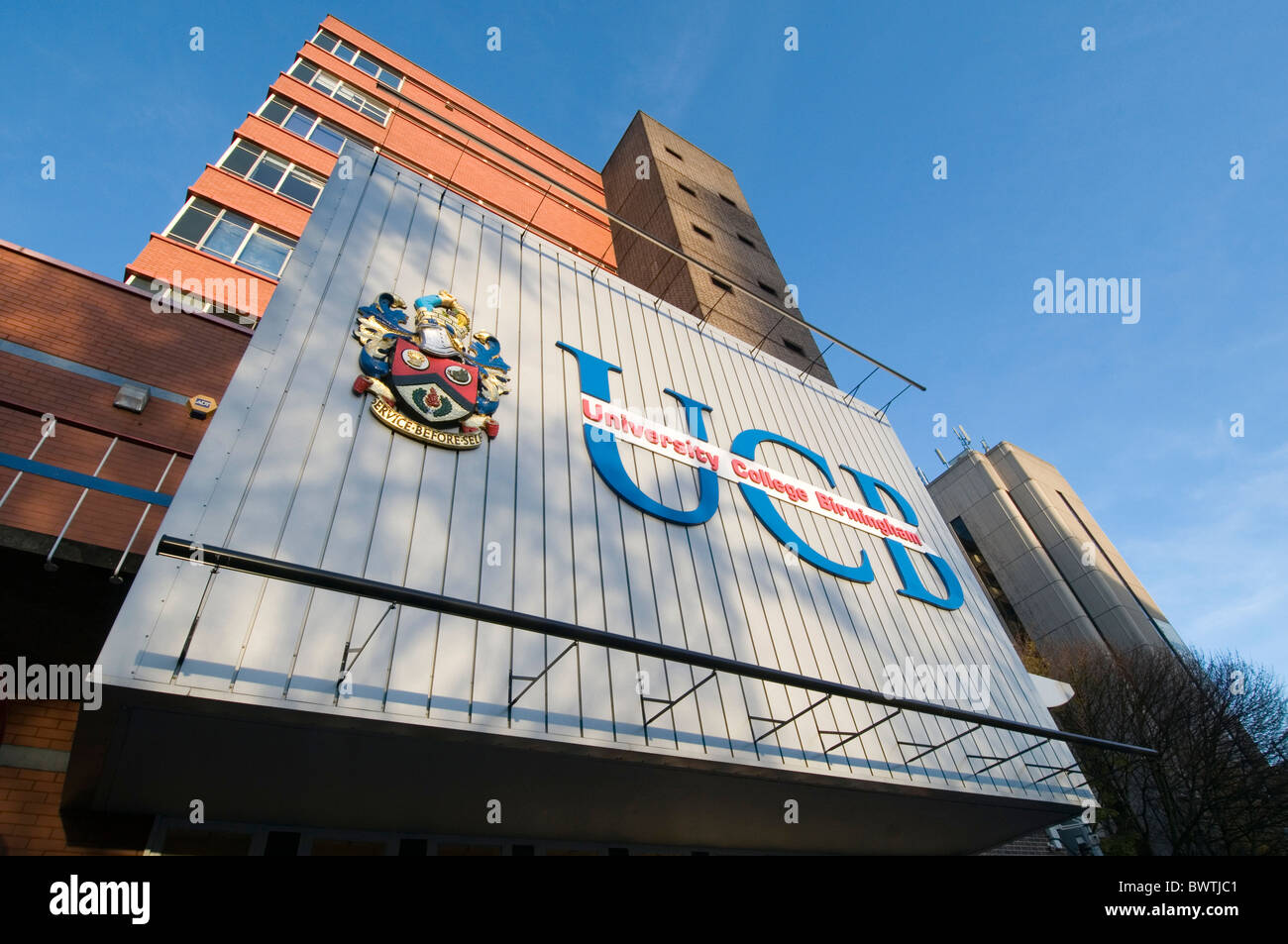 ucb university college birmingham in education higher degree course courses uk establishment establishments colleges - Stock Image