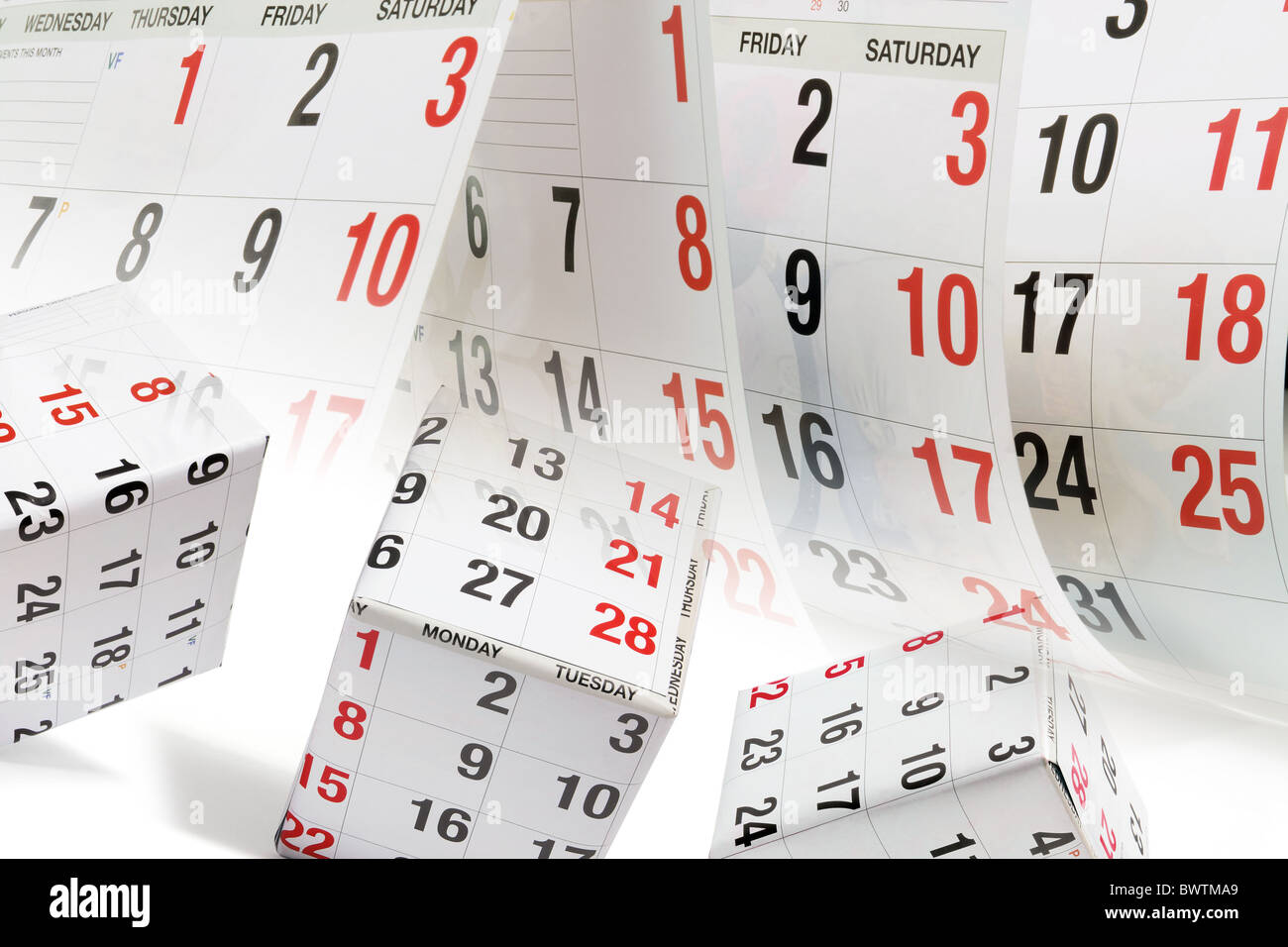 Parcels and Calendar Pages - Stock Image