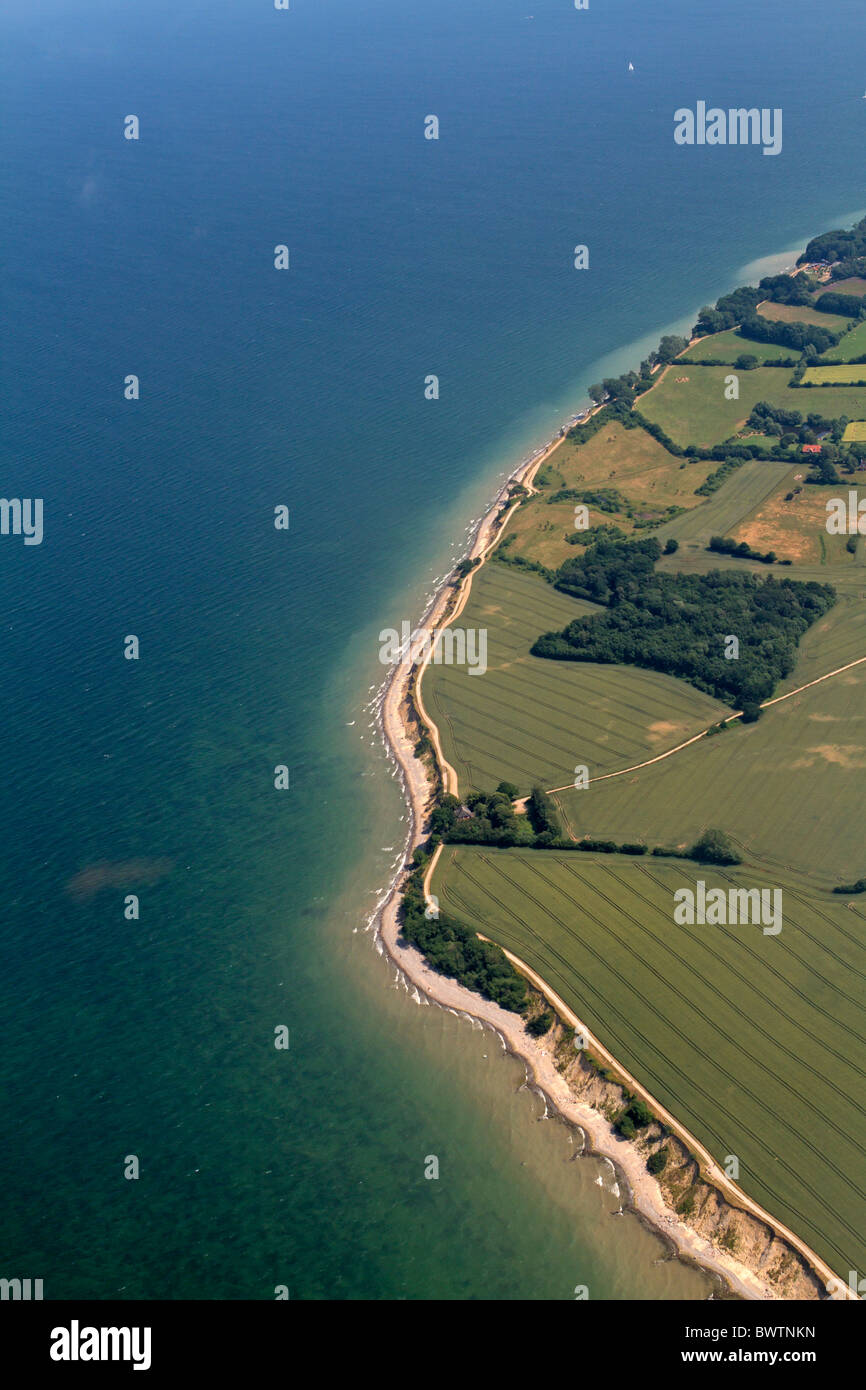 Aerial photograph of steep coast Brodtener Ufer, Baltic Sea, Schleswig-Hostein, Germany Stock Photo