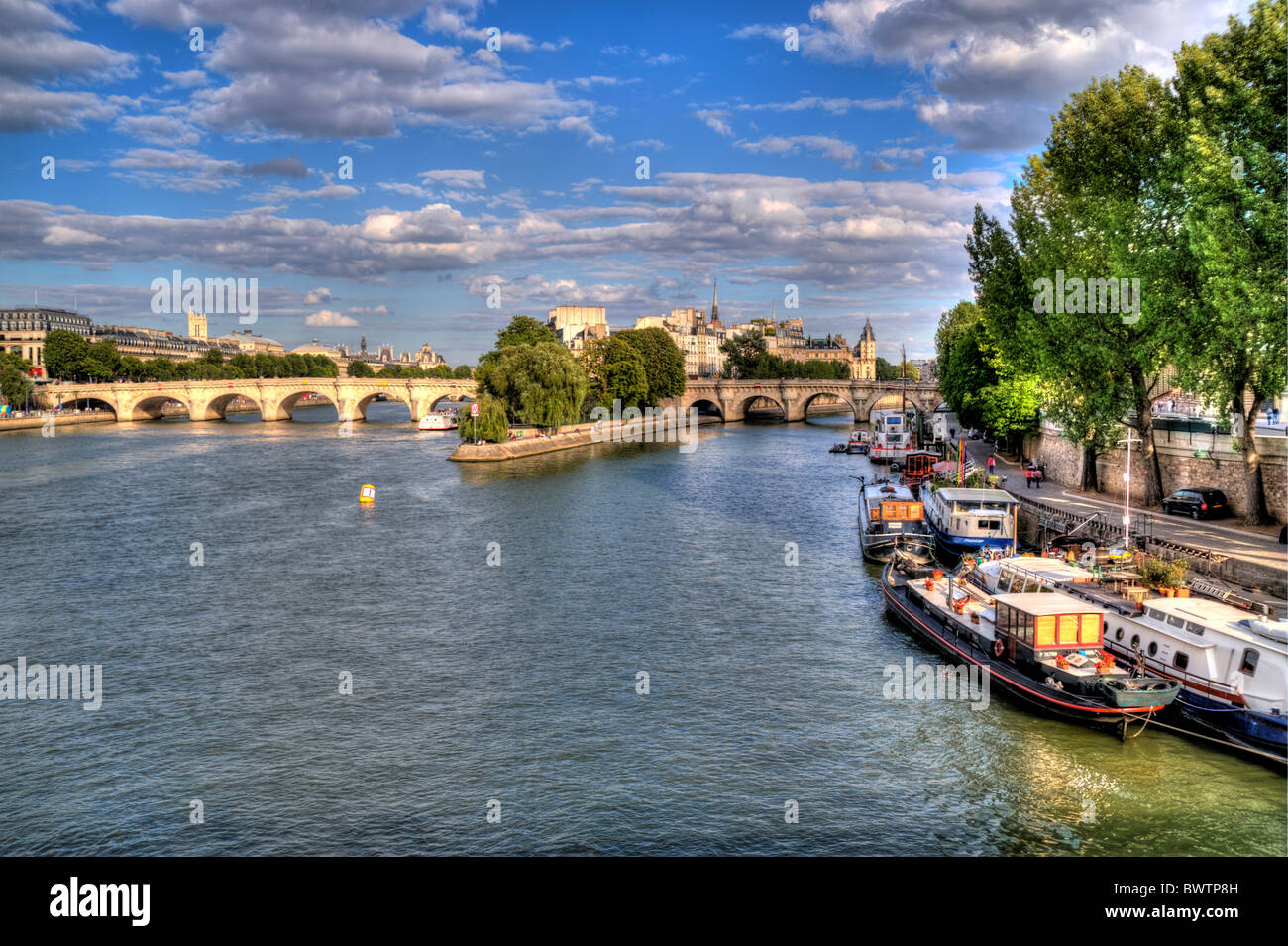 River Seine Paris France Stock Photo