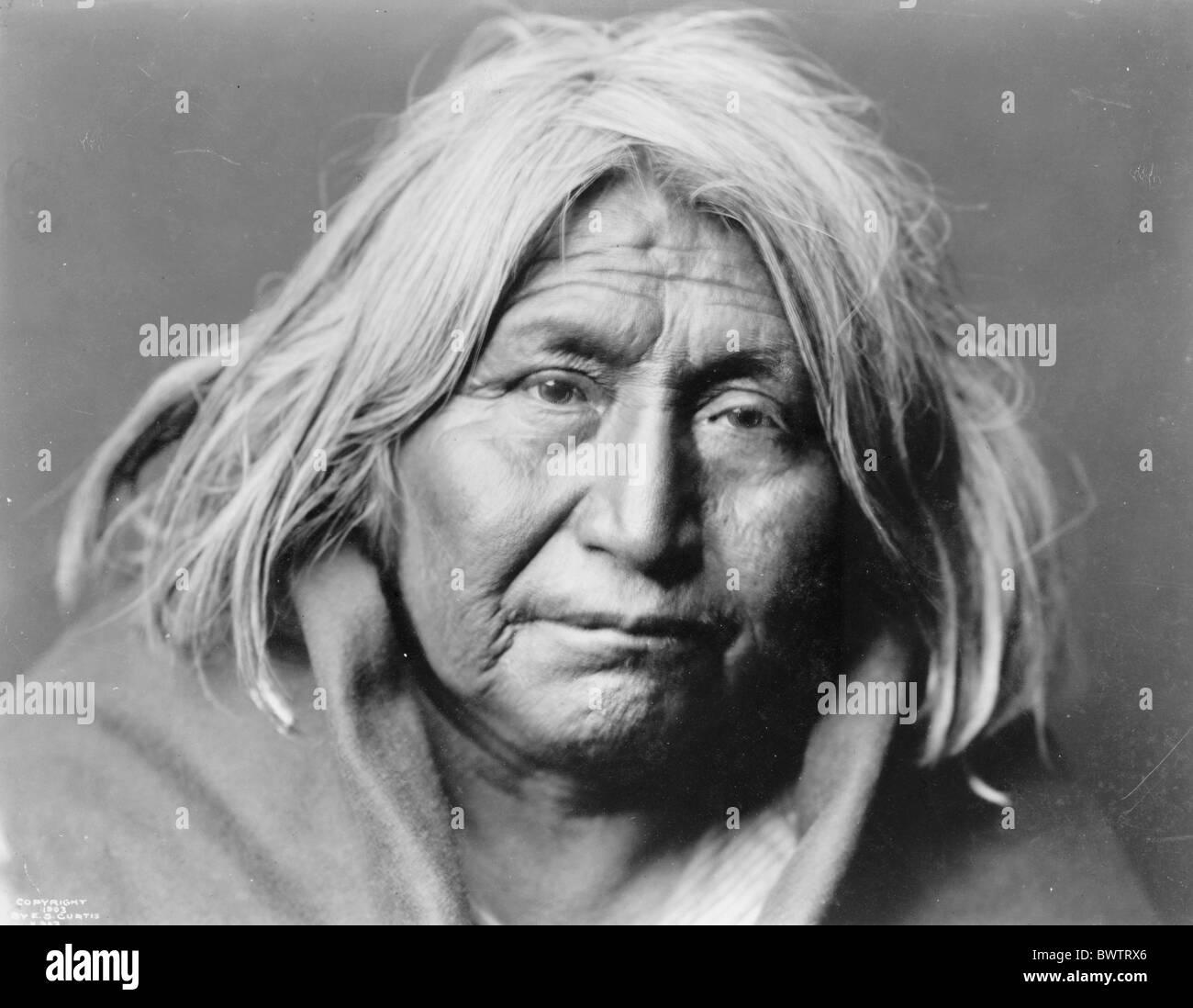 Indian USA America United States North America Portrait Apache 1903 redskin historical historic history ma - Stock Image