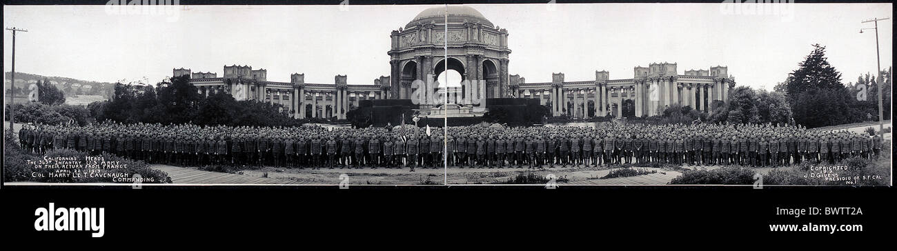 California Heroes parade 363rd Infantry U.S. Army return from France World War I WW1 USA America United States - Stock Image