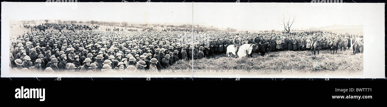 General Pershing Major General Dickman World War I WW1 Vallendar Germany Europe 1919 historical historic his - Stock Image