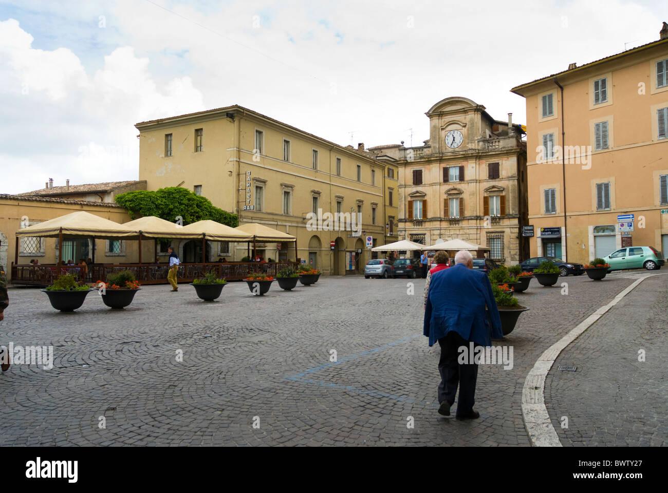 The Piazza della Liberta in Spoleto, Umbria - Stock Image