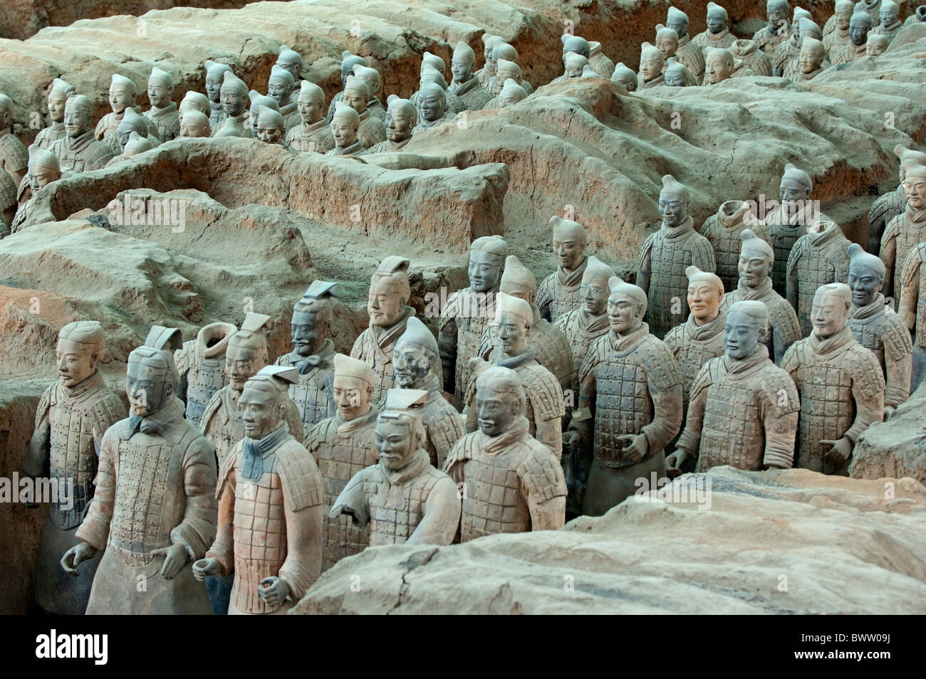 Terracotta Army, Xi'an, China - Stock Image