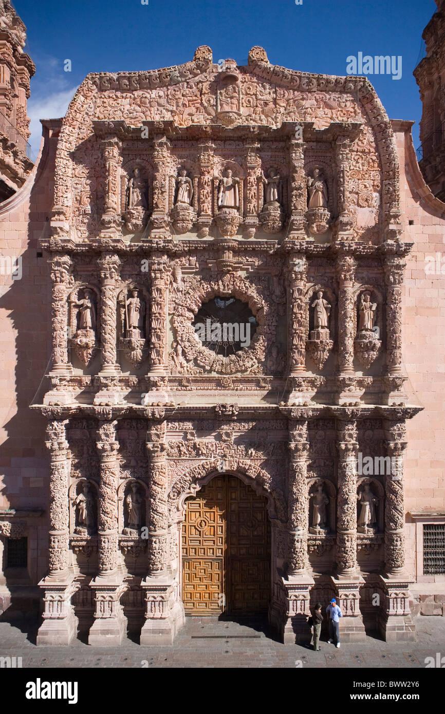 mexico central america america zacatecas city cathedral architecture