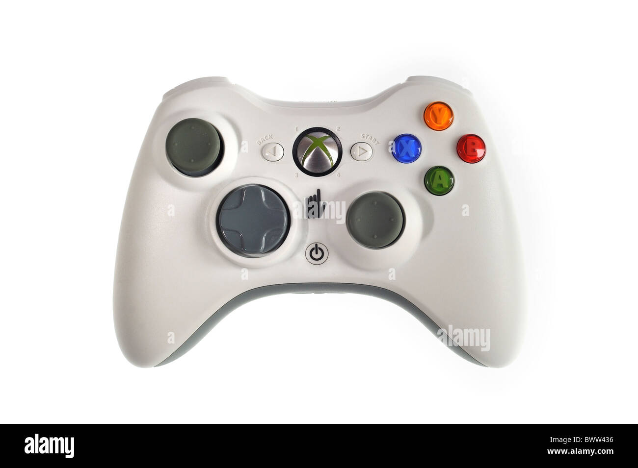 White video game controller - Stock Image