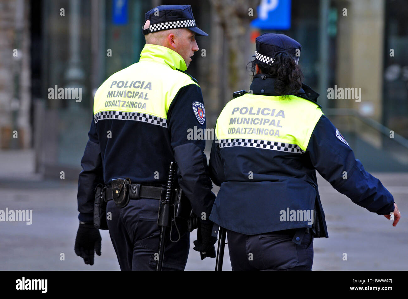 Police Officers in Northern Spain, Europe - Stock Image