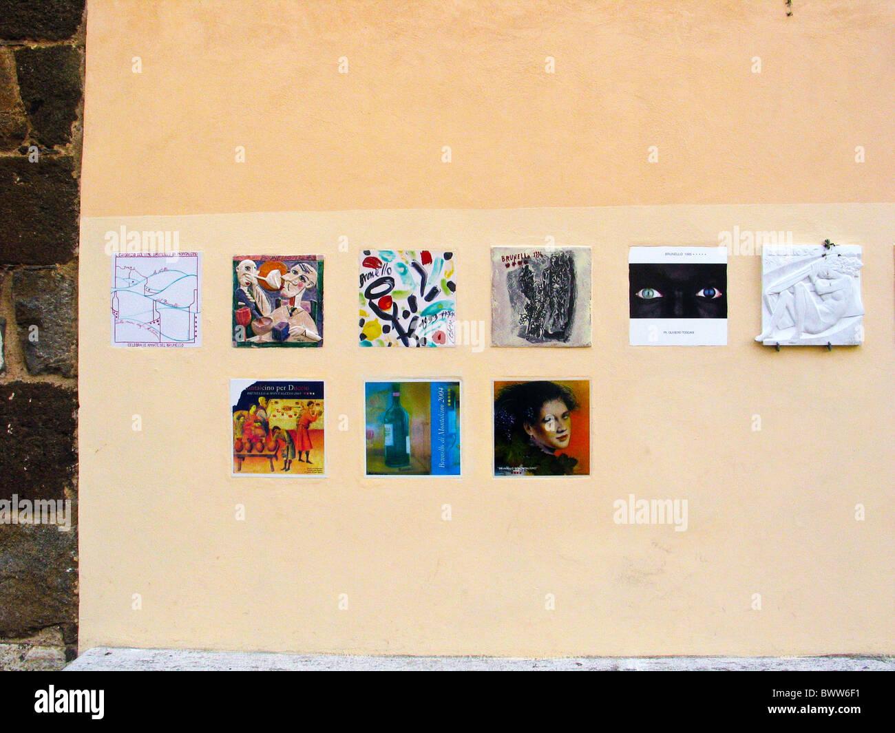 Montalcino Tuscany Toscana Italy style art marks griffes famouse vip ...