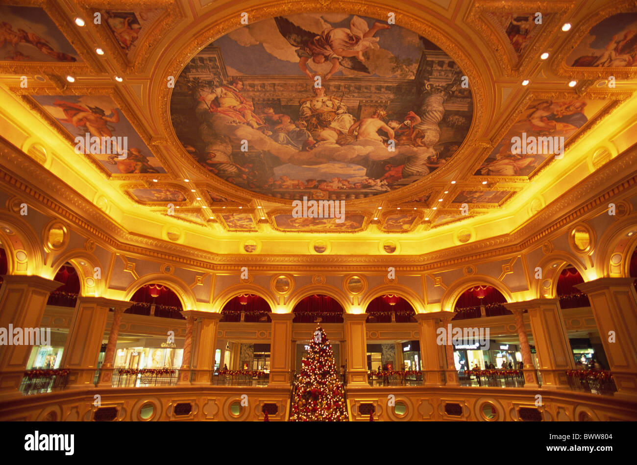 Asia China Asia Macau city Venetian Venetian Macao Venetian Hotel and casino gambling Casinos Hotel Hotels - Stock Image