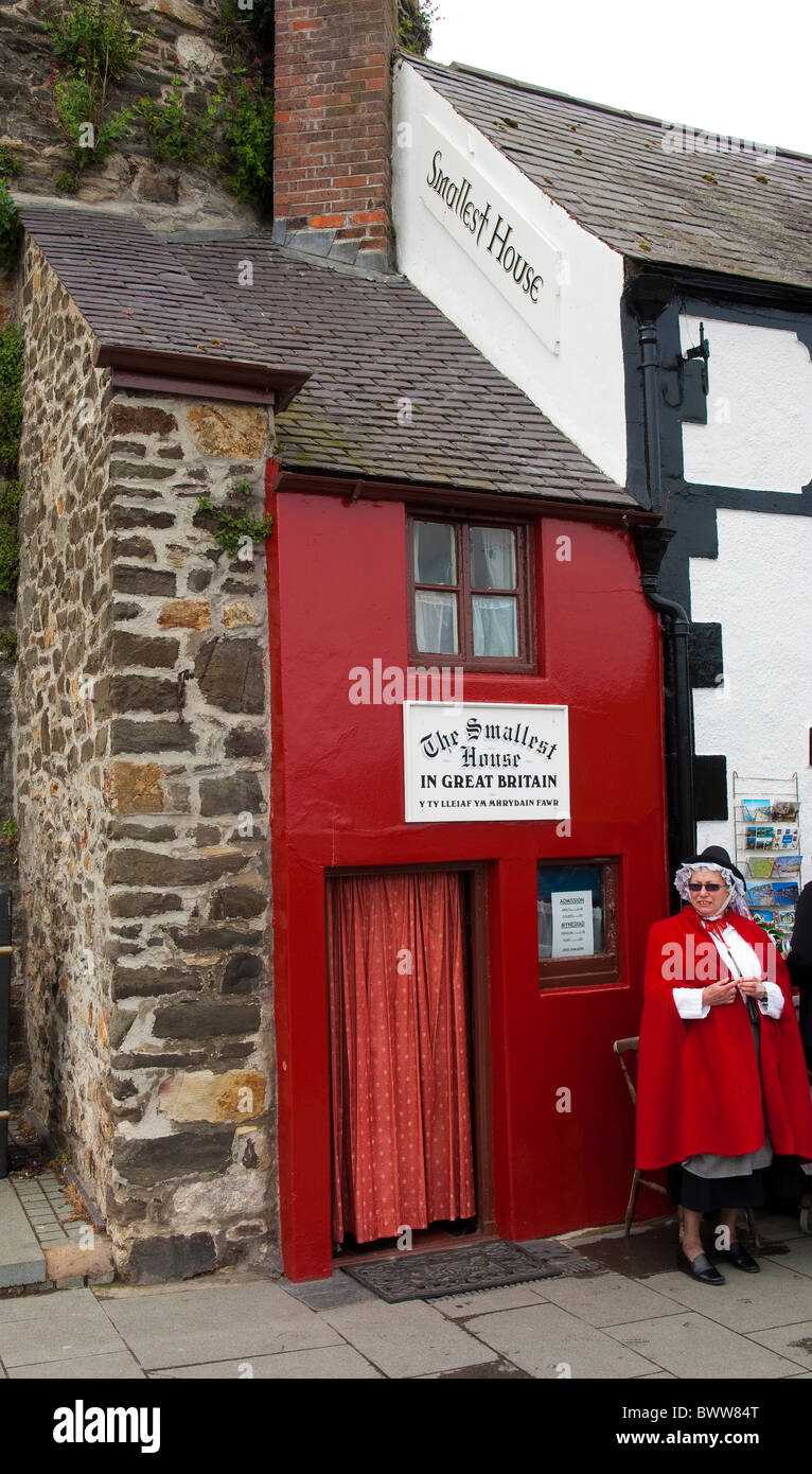 Smallest house in Great Britain, Conwy Quay, North Wales - Stock Image