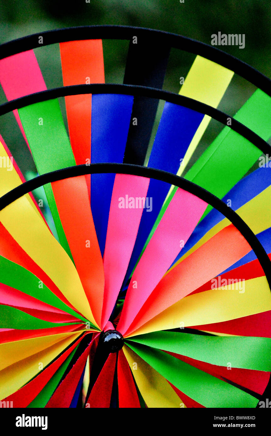 Colorful pinwheels, wind wheels - Stock Image