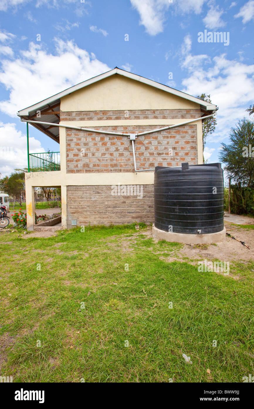 Water catchment system, Maji Mazuri Centre and School, Nairobi, Kenya - Stock Image