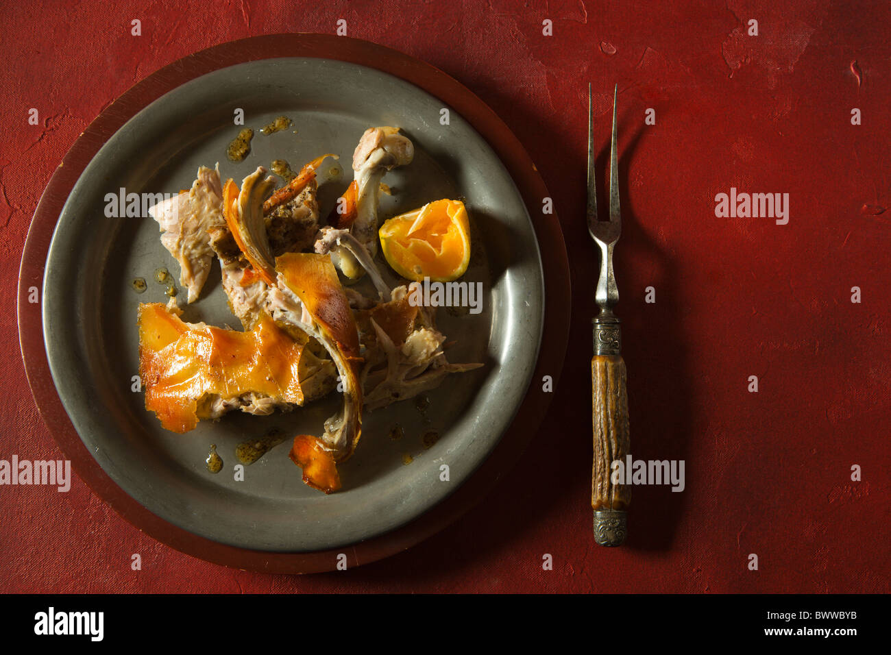 Roasted Suckling Pick prepared at the Mediterranean Manor in Newark, NJ. - Stock Image