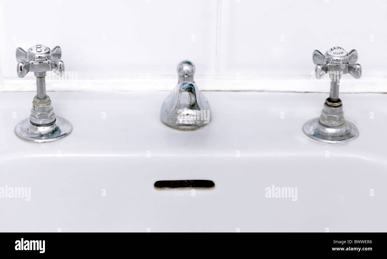 Bathroom Sink Face Pareidolia Seeing Faces In Objects Stock Photo