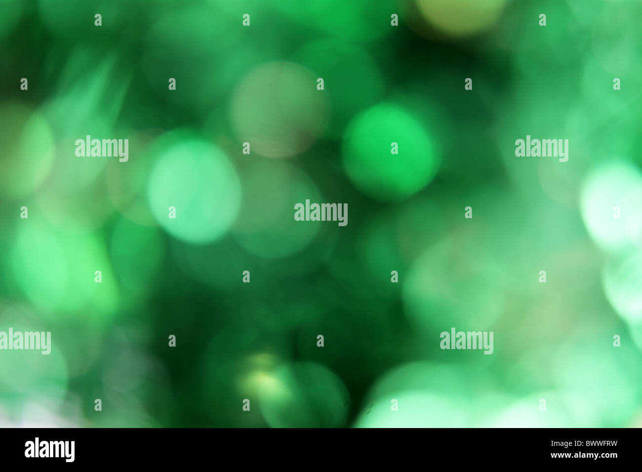 Green Blurred Background - Stock Image