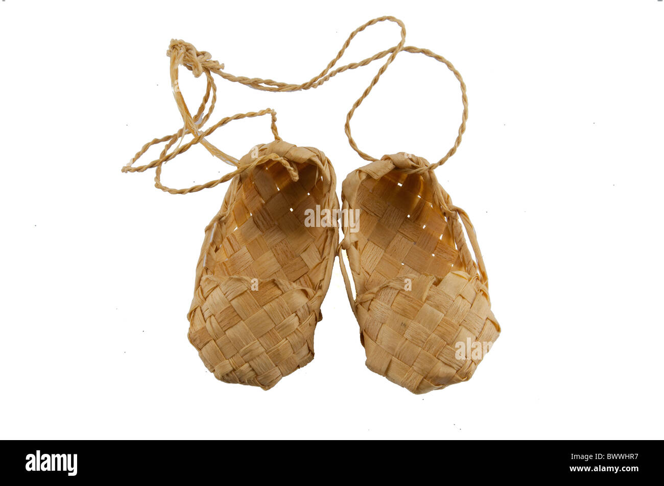 The picture of the cute bast shoe - Stock Image