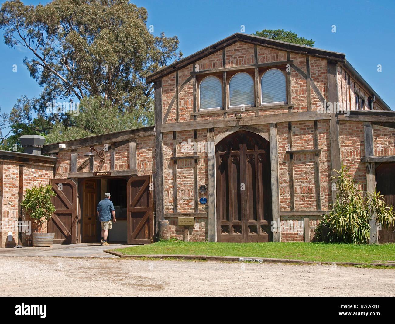 MAIN ENTRANCE AT MONTSALVAT , ARTIST COMMUNITY  VICTORIA  AUSTRALIA - Stock Image