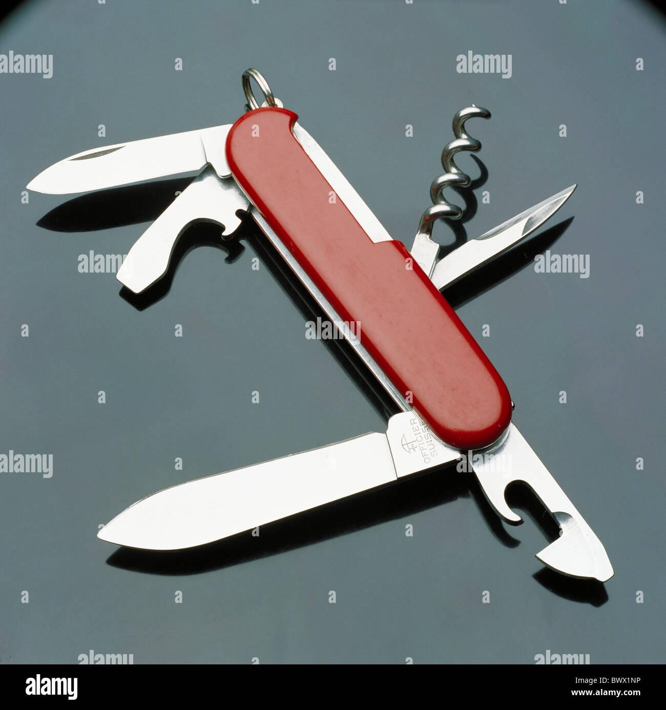 army knife appliance bag knife knife Switzerland Europe tools - Stock Image