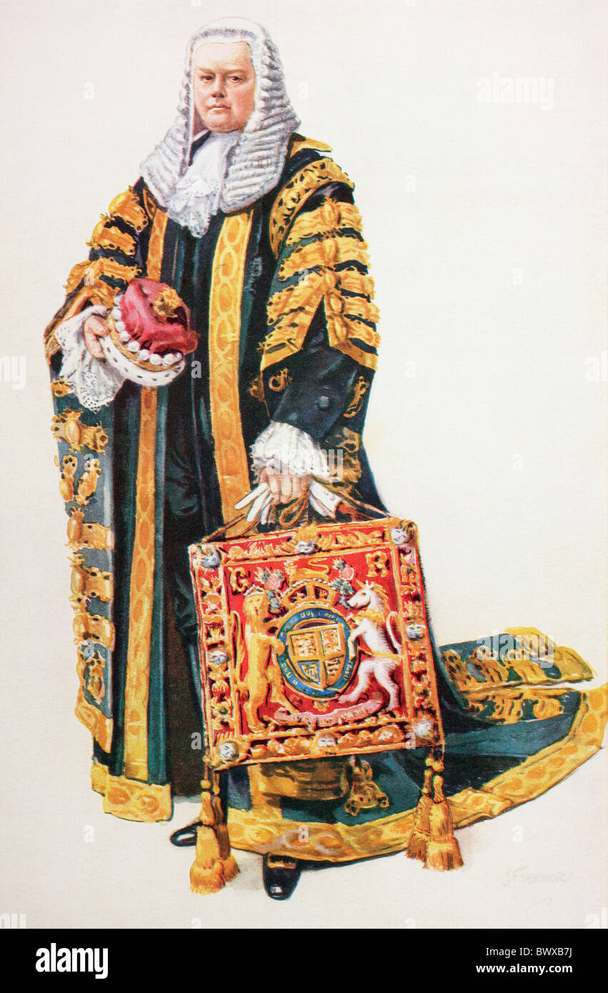 The Lord High Chancellor Of Britain In His Coronation